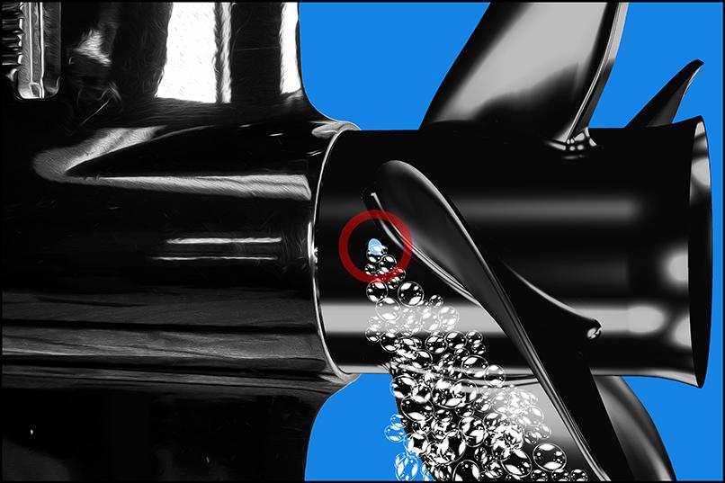 9d X 10p Aluminum 3 Blade Rh Rotation Prop   Hub  6